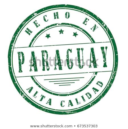 Paraguay vidék zászló térkép forma szöveg Stock fotó © tony4urban