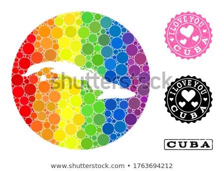 Cuba homossexual mapa país orgulho bandeira Foto stock © tony4urban