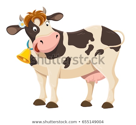 cow with a bell stock photo © kotenko