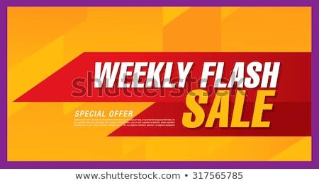 Fin de semana ofrecer violeta vector icono diseno Foto stock © rizwanali3d