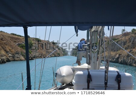 Canal for the passage of vessels in Corinth Stock photo © deyangeorgiev