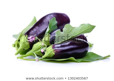 Egészséges organikus padlizsán lila három izolált Stock fotó © Klinker