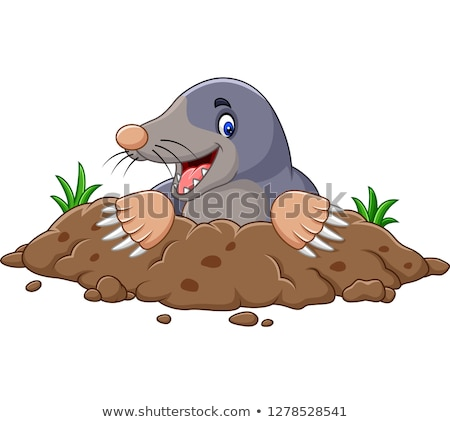 смешные моль иллюстрация земле почвы открытки Сток-фото © adrenalina