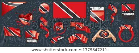 Trinidad and Tobago Heart flag icon Stock photo © netkov1