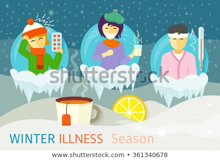 Stok fotoğraf: Kış · hastalık · sezon · insanlar · dizayn · soğuk