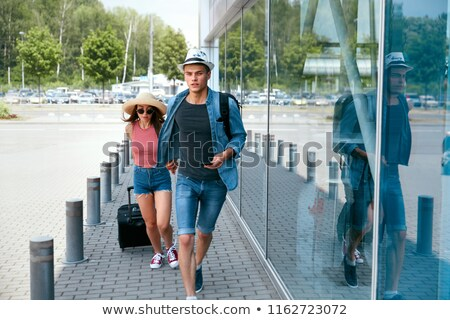 Hurry for catching the plane for travel Stock photo © zurijeta
