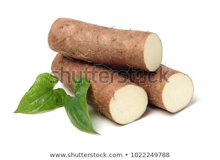 Ruw plantaardige vers witte achtergrond Stockfoto © Digifoodstock