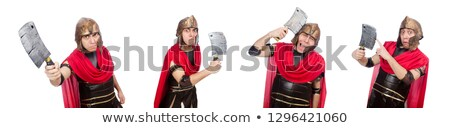 gladiator with cleaver isolated on white stock photo © elnur