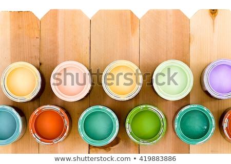 красочный древесины пятно забор снизить Сток-фото © ozgur