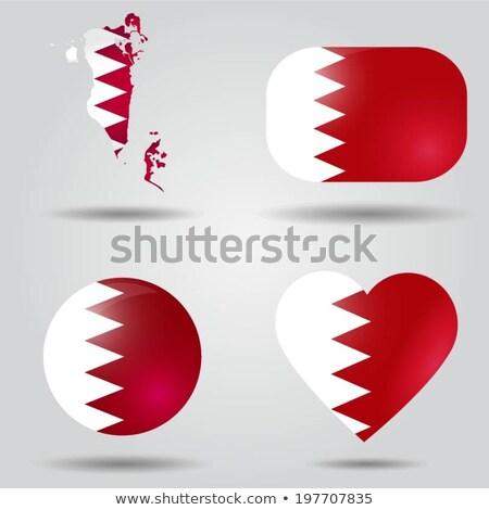 Bahreïn pavillon ovale bouton argent isolé Photo stock © Bigalbaloo