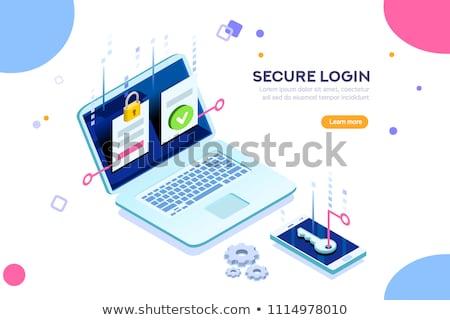 Internet biztonság színes szett üzlet terv Stock fotó © Genestro