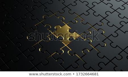команде 3D коробки черный письма Сток-фото © marinini