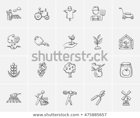 Pitchfork sketch icon. Stock photo © RAStudio