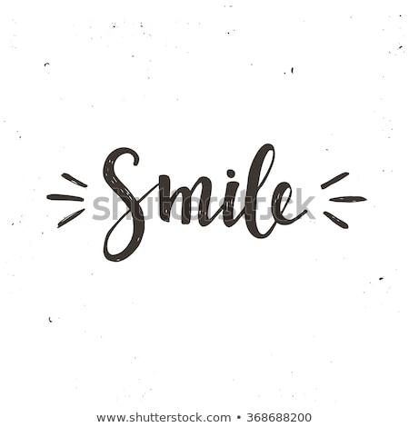 Sorriso parola scuola bordo felice sfondo Foto d'archivio © fuzzbones0