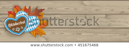 Oktoberfest Header Hearts Wooden Plank Stock photo © limbi007