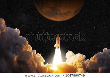 Rakéta hajó indulás vektoros kép illusztráció űr Stock fotó © vector1st