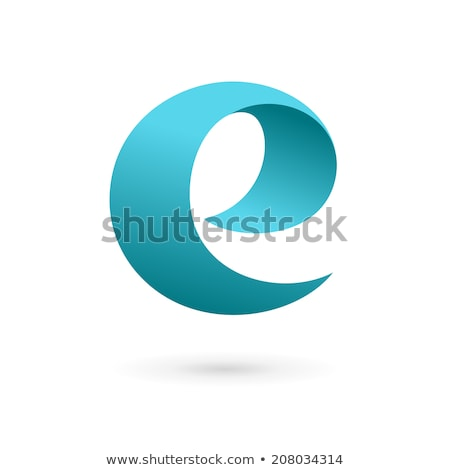 Stock photo: Logo Shapes and Icons of Letter E