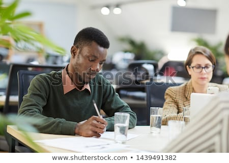 A man taking an exam Stock photo © bluering