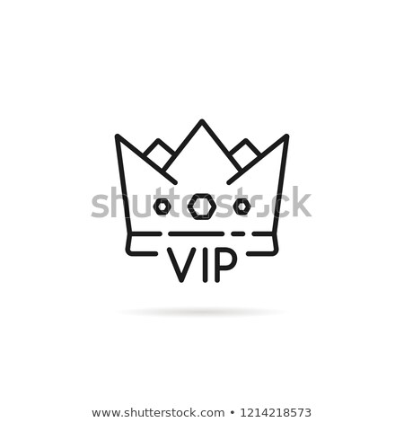 Golden card Very Important Person, vector illustration Stock photo © carodi