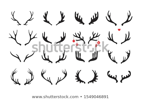 Moose · icona · segno · nero · testa · bella - foto d'archivio © angelp