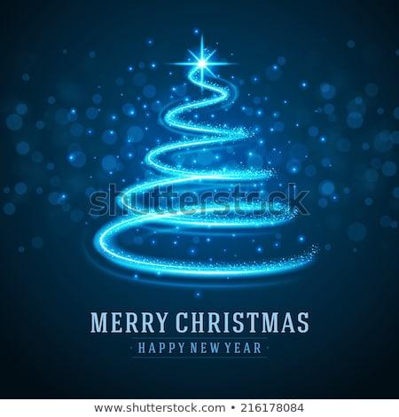 Christmas tree decoration stars. EPS 10 Stock photo © beholdereye