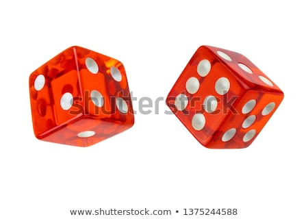 Six red game dices Stock photo © djmilic