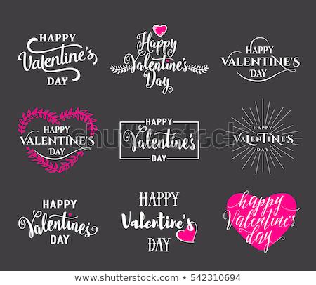 valentin · nap · terv · firka · kézzel · rajzolt · Valentin · nap · szívek - stock fotó © beaubelle