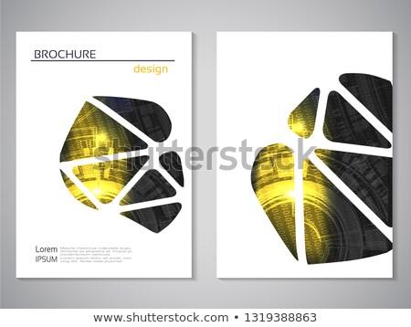 Abstract giallo bianco nero magazine brochure pagina Foto d'archivio © SArts