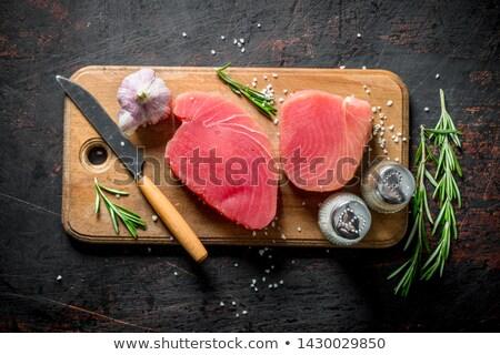 Atún peces filete alimentos limón Foto stock © M-studio