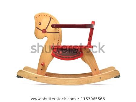 Children toy wooden rocking horse Stock photo © nalinratphi