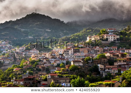 View of Agros village. Limassol District, Cyprus Stock photo © Kirill_M