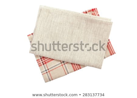 Vermelho branco prato toalha Foto stock © Digifoodstock