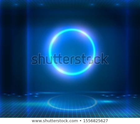 Portal futurista porta mecânico tipo mecanismo Foto stock © albund