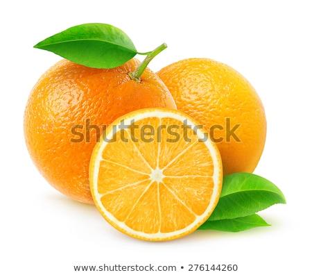 Friss narancs negyed levél vág egy Stock fotó © Digifoodstock