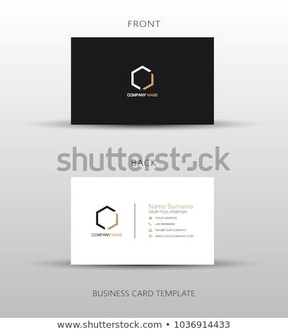 Minimalny wizytówkę szablon elegancki wzór działalności Zdjęcia stock © SArts