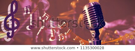 Mid section of guitarist performing at nightclub Stock photo © wavebreak_media
