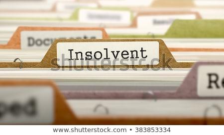 Insolvent - Folder Name in Directory. Stock photo © tashatuvango