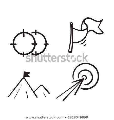Сток-фото: Competitive Advantage Concept With Doodle Design Icons