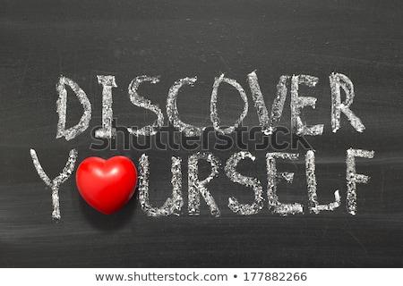 handwritten reinvent yourself on a chalkboard stock photo © tashatuvango
