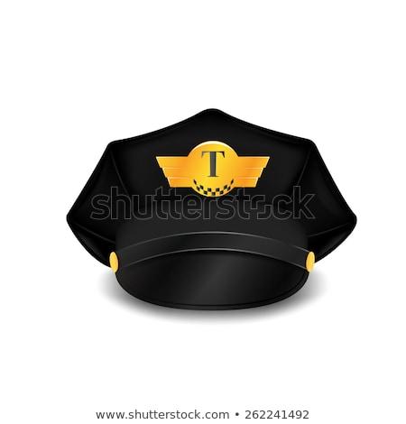 Táxi motorista ícone assinar símbolo vetor Foto stock © popaukropa