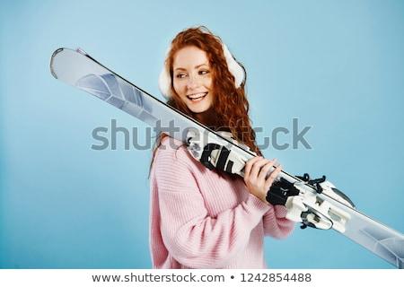 girl skiing stock photo © is2