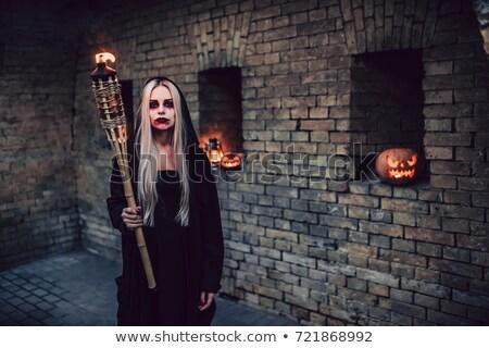 画像 · 恐ろしい · ゾンビ · 女性 · ドレス - ストックフォト © deandrobot
