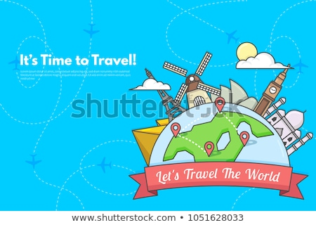 China. Time to Travel. Journey, trip and vacation. Vector travel illustration. Stock photo © Leo_Edition