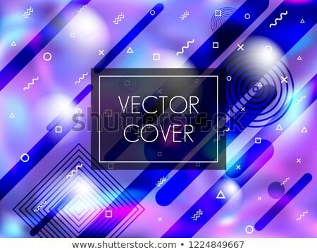 Elegáns részecskék hullámos vektor terv hálózat Stock fotó © SArts