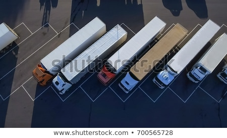 Aerial view of freight transportation truck on the road Stock photo © stevanovicigor