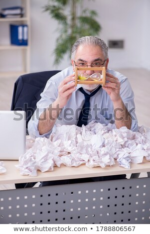 crumpled old paper with mustache stock photo © adamson