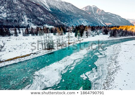 Small stream leading to a frozen lake Stock photo © Mps197
