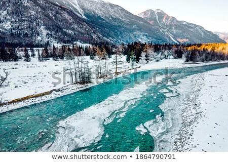 küçük · dere · dondurulmuş · göl · kış - stok fotoğraf © Mps197