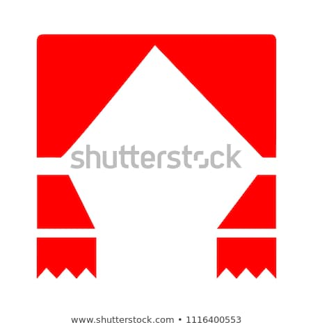 Foto stock: Red Curtains With Play Button