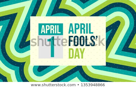 Greeting Card Template for April Fool's Day, Doodle Style Stock photo © lissantee